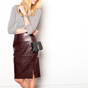 🍁LOFT Faux Leather Pencil Skirt